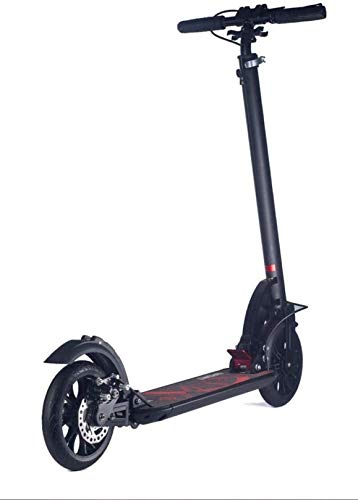 XLYYHZ Kick Scooter - Plegable, Ligero, Ajustable, portátil, llevando Pesadas Adultos con una Carga máxima de 150 kg, f u r Adultos y jóvenes, Negro