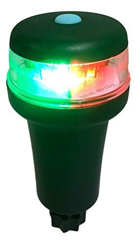Pactrade Marine Boat LED Portable 3A Battery Bi-Color Combo Navigation Light