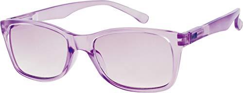 L63 Opticollection Gafas de Lectura para vista cansada con Funda Hombre | Mujer | Lentes Graduadas para Presbicia Filtro Protección Solar: +1/ +1.5/ +2/ +2.5/ +3/ +3.5 (+1.50, Lila)