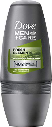 Dove Men + Care Fresh Elements Anti-Transpirant, Roll-On, 6er Pack (6 x 50 ml)