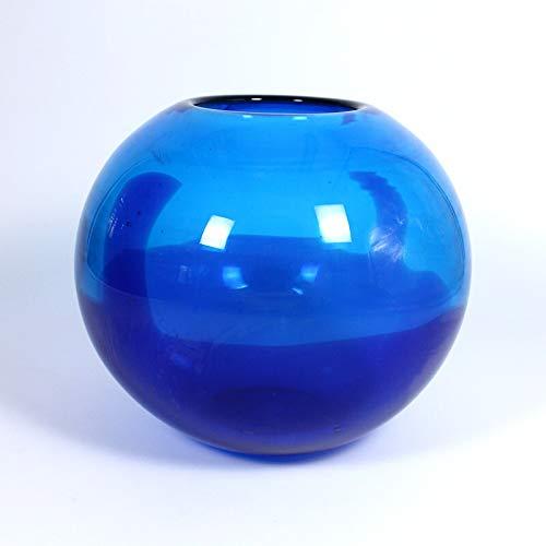 CRISTALICA Glasvase Kugelvase Dekoelement Laguna Murano 16cm blau