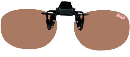 コールマン クリップオン 前掛け偏光サングラス ワンタッチ装着 ブラウン CL02-2