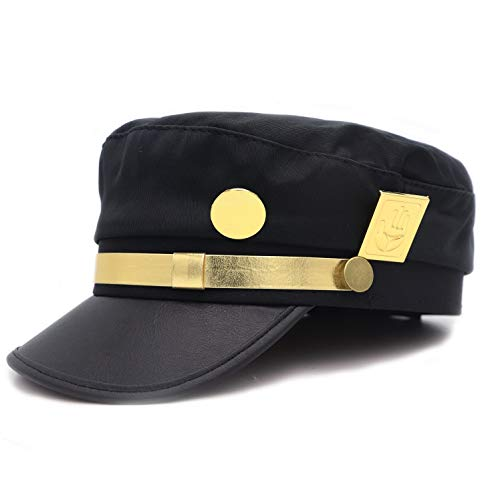 YEOU JoJo's Bizarre Adventure Taro Cap Jotaro Kujo Cosplay Visored Baseball Cap Hat Props (Style-01)