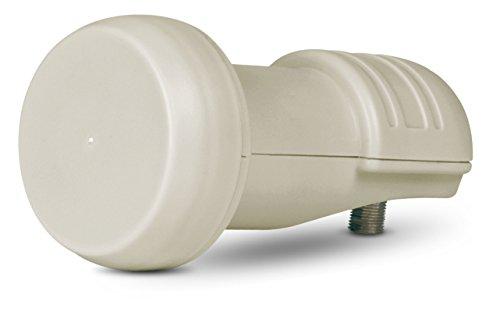 TechniSat Universal Single V/H LNB mit 40 mm Feedaufnahme (digital LNC Satelliten Signalumsetzer für 1 Teilnehmer, Wetterschutz, UHD, 4K, HD)