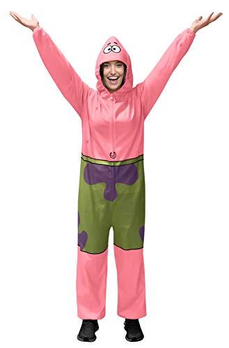 Rubie's Classic Spongebob Patrick Star Comfy Wear Jumpsuit, As Shown, Small/Medium