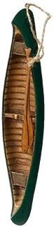 Midwest-CBK Green Wooden Canoe & Oars Christmas Tree Ornament