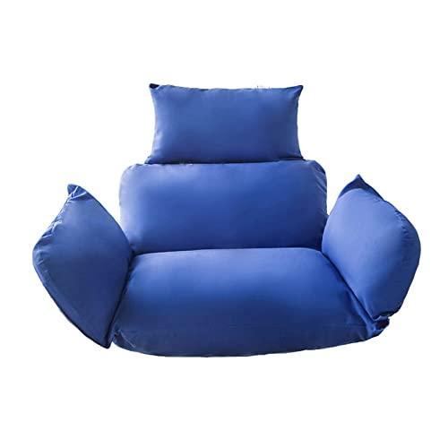 Cojín para columpio, cesta colgante Cojines para silla Huevo Hamaca Cojines para silla incluidos Reposacabezas y reposabrazos Almohada gruesa con respaldo de nido para interior, exterior, patio, jar