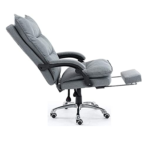 N&O Renovation House Desk Chairs Office Chair Home 360 deg Rotating and Lifting Comfortable Seat Recumbent Computer Chair Integrated Linkage Armrest (Color : Gray Size : 6464118 125cm)