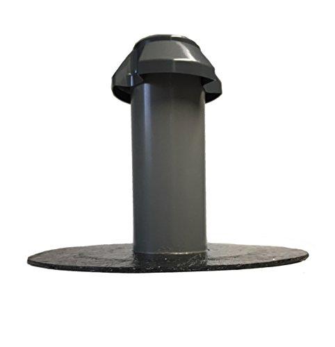 Flachdachlüfter DN 100, Bitumen-/PVC-Flansch, Lüfter, Abluft, Dachentlüftung, DN 110 (Bitumen PYE)