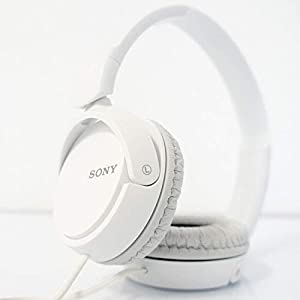 SONY Over On Ear Best Stereo Extra Bass Portable Headphones Headset for Apple iPhone iPod / Samsung Galaxy / mp3 Player / 3.5mm Jack Plug Cell Phone (White)