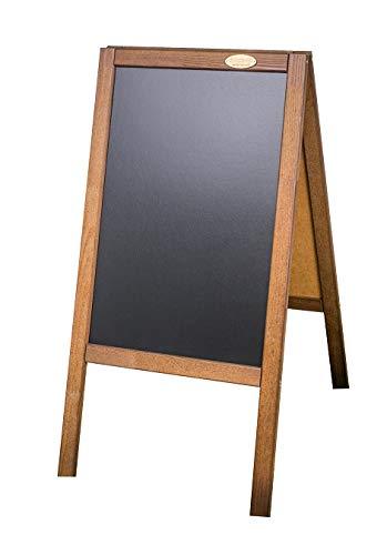 AZZAP Kundenstopper PM 93cm Holz Tafel Aufsteller Werbetafel Holztafel Werbeaufsteller Dunkelbraun