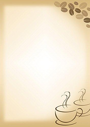 Briefpapier Kaffee 50 Blatt Motivpapier DIN A4 90 g/m² 5062