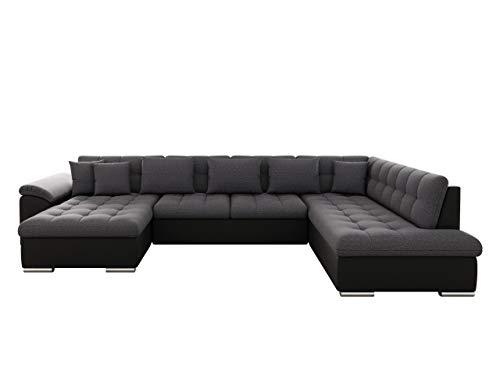 Mirjan24 Eckcouch Ecksofa Niko Bis! Design Sofa Couch! mit Schlaffunktion und Bettkasten! U-Sofa Große Farbauswahl! Wohnlandschaft vom Hersteller (Ecksofa Links, Soft 011 + Boss 12)