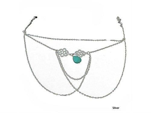 HFjingjing Personalisiert Legierung Arm Slave Harness Tassel Kette Oberarmreif Armband Armbinde Armband Armreif - (Silber) für die Dekoration