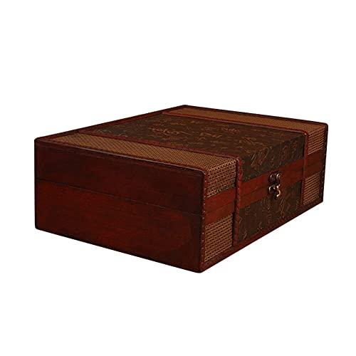 LANL Vintage-Schmuckkästchen aus Holz für den Schreibtisch, Aufbewahrungsboxen für Kleinteile, Dokumente, Bücher, Aufbewahrungsbox ohne Schloss für Damen