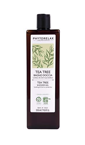 Phytorelax Laboratories Tea Tree Vegan Organic - Bagno Doccia - Lenitivo Dermoprotettivo, Rinfrescante - 500 Ml, 6022289