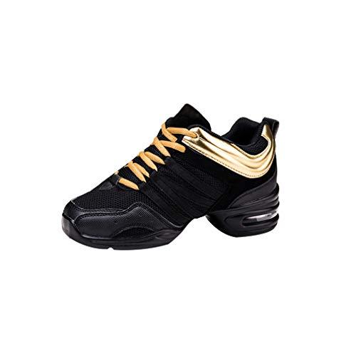 Mujer Zapatos de Deportes Danza- Mujeres Sneakers Cordones Suela de Goma Zapatillas Moda Practicidad Running Sneaker Jazz Contemporáneo Baile Informal