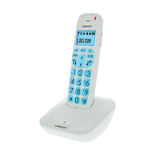 Logicom Comfort 150 - Teléfono inalámbrico con pantalla, color blanco