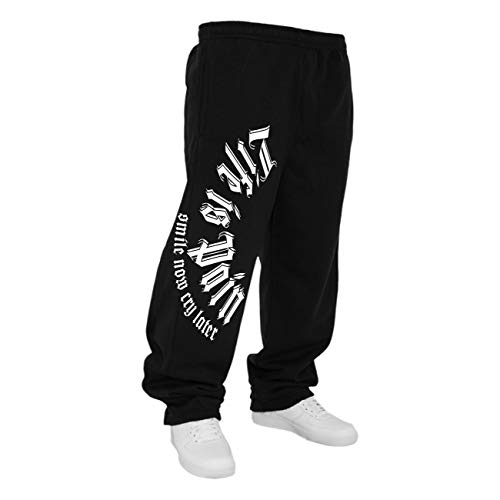 Life Is Pain Männer Sweatpant Jogginghose Trainingshose Smile Now cry Later Größe S - 5XL
