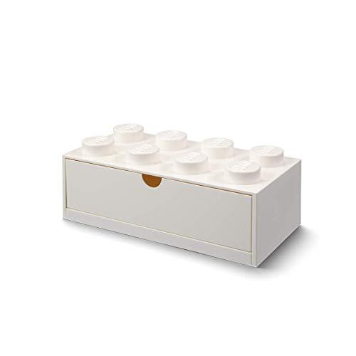 LEGO 40211735 Schreibtischschublade 8 Knöpfe, Weiß