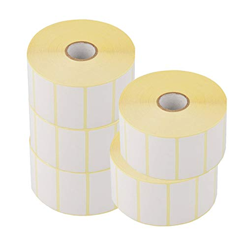 Trimming Shop - Rotolo di etichette autoadesive bianche rettangolari per stampa, indirizzo, posta, adesivi, 1000 etichette su rotolo, 60 mm x 40 mm, 38 mm 60cm x 40cm bianco