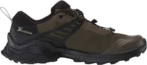 SALOMON Herren Shoes X Raise GTX Trekkingschuhe, Schwarz (Weinblatt/Schwarz/Schwarz), 44 2/3 EU