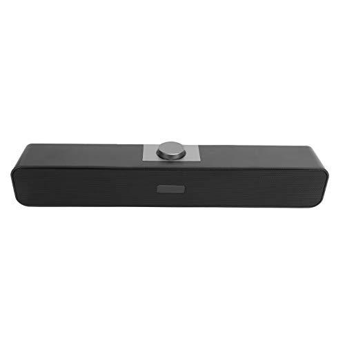 PUSOKEI Altavoz con Cable, Altavoces con reducción de Ruido para Bluetooth y Cable AUX, Altavoz portátil, Altavoces estéreo de Graves para TV, Cine en casa, Viajes, fácil de Transportar(Negro)