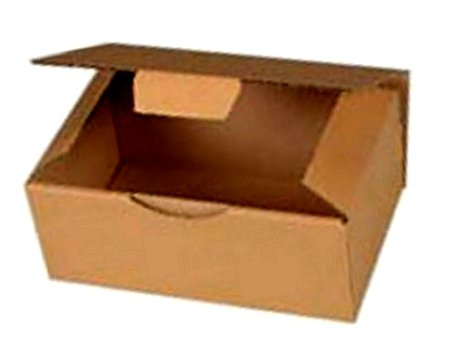 10 Boites Postales à tirettes marrons : 250 X 200 X 100 mm Petite Cannelure