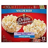Orville Redenbachers Gourmet Popcorn Movie Theater Butter 12 Count. Mini Single- pack of 2
