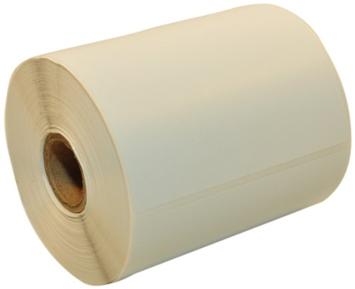 CompuLabel ダイレクトサーマルラベル 4インチ x 4インチ ホワイト ロール 永久接着剤 ラベル間ミシン目 350ロール/カートンあたり12ロール (530807)