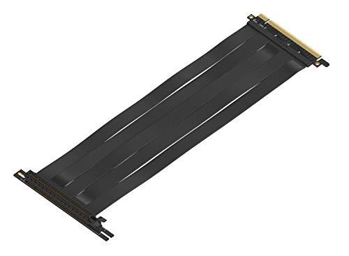 LINKUP - {30 cm} 16x Riser Kabel Super Abgeschirmt Twinaxial PCI Express Steigleitung Kabel Portverlängerungs-Platte 2020 Rev | 90 Grad Buchse