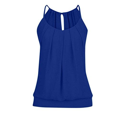 KIMODO T Shirt Bluse Tank Top Damen Camisole Sommer Lose Weste Schwarz Blau Rosa Große Große Mode (DunkelBlau, XXL)