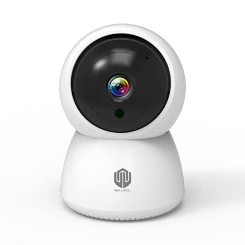 WALLMALL - Telecamera Wi-Fi Interno 1080P FULL HD, VideoSorveglianza con Inseguimento del Soggetto in Movimento, Baby Monitor e Rotazione Silenziosa...