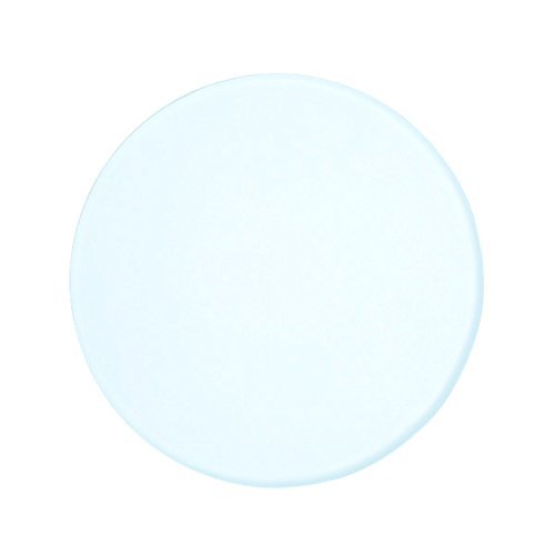 AmScope GP-95 3-3/4 Inch (95mm) Frosted Round Glass Plate for Stereo Microscopes