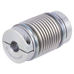 Steel bellow coupling MBL, long version, MDmax = 5,0Nm, both sides bore 16mm, overall length 71,4mm, hub diameter 37,4mm