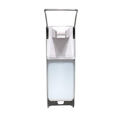 Riou 500 ML Eurospender, Desinfektionsspender Wand Kunststoff Pumpe Nachfüllbarer Wandmontage Seifenspender Desinfektionsmittel Spender (Weiß, 500ML)