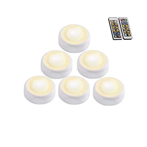 Papasbox Schrankleuchten mit Fernbedienung, 6er LED Unterbauleuchte Dimmbar 3000K/6000K Nachtlicht Schrankbeleuchtung SchrankLicht Kabinett Beleuchtung für Kleiderschrank Küche Flur
