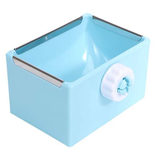 UEETEK 小動物餌入れ えさ入れ うさぎ ハリネズミ ハムスター 食器 固定 取り外し可能 小動物用品 (ブルー)