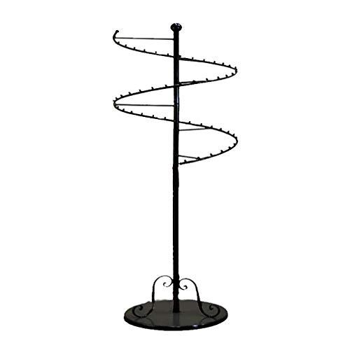 GWXYMJ Perchero Estante de la Ropa Interior De pie Antideslizante Redondo Giratorio Bra Braies Display Stand Estantes de la Tienda de Ropa de Hierro Forjado, L50 * H153CM (Color : Black)