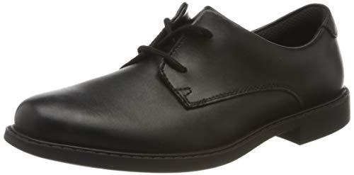 Clarks Jungen Scala Loop K Derbys, Schwarz (Black Leather Black Leather), 34 EU