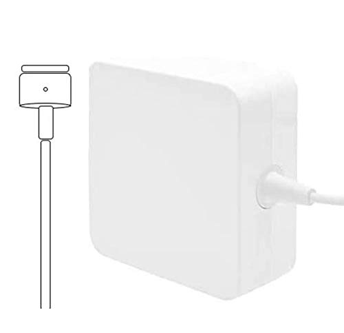 Mac Pro Charger 85W Superior Heat Control Power Adapter Magsafe 2 Magnetic T-Tip (85T) Laptop Replacement for MacBook Pro 13/15 /17 Inch by Uflatek
