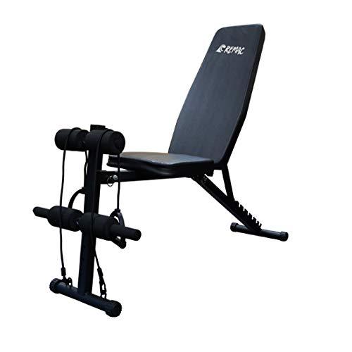 【Ageratum】トレーニングベンチ 腹筋 フォールディング ダンベルベンチ インクラインベンチ 折り畳み (ブラック)