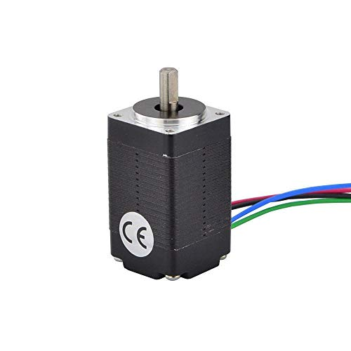 HUANRUOBAIHUO Mini Nema 8 Stepper Motor 4-lead 1.8deg 2Ncm(2.83oz.in) 0.6A 20x20x33mm Step Motor for 3D Printer Motor/CNC XYZ 3D Printer Parts
