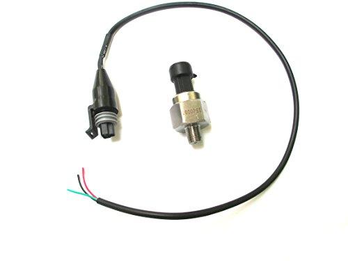 USonline911 Universal Stainless Steel Pressure Transducer Sender Solenoid for Oil Fuel Gas Air Water (1600 PSI)