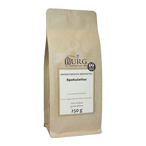 BURG Spekulatius Kaffee aromatisiert Gewicht 250 g, Mahlgrad ungemahlen