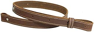 Leather Rifle Sling genuine Vintage brown crazy horse gun strap stitched 1