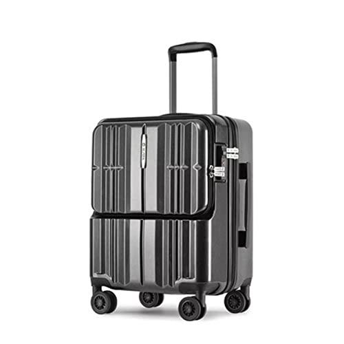 MWYS Rolling Bagagli Valigia da viaggio con borsa per computer portatile Borse trolley da donna su ruote Uomo Business Case (colore : A, Dimensione bagagli : 20 ')