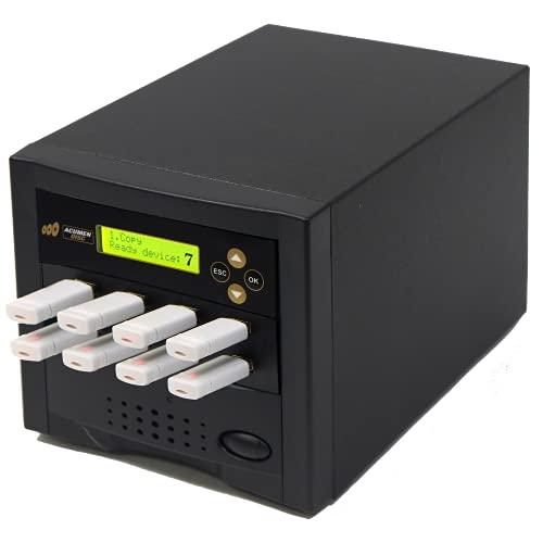 Acumen Disc 1 to 7 USB Duplicator - Multiple Standard-A Flash Memory Card Copier & Sanitizer (DOD Compliant) System - 2.0/3.0 Digital Key Dongle/SSD/External Hard Drive Mass Storage
