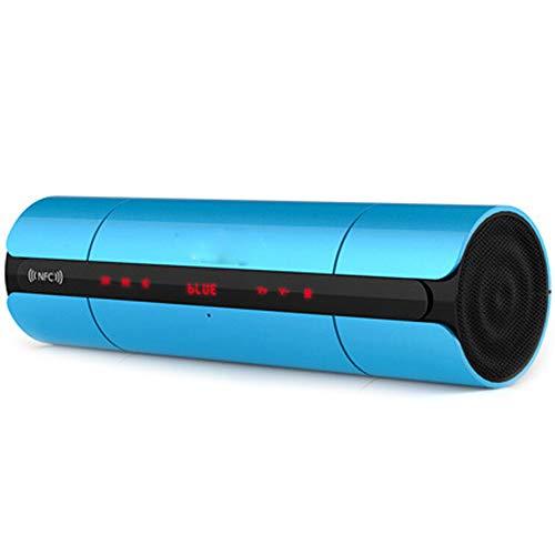 Xiao Jian Draadloze Bluetooth-luidspreker met twee luidsprekers, 4.0 NFC audio stereo, draagbaar, subwoofer-kaart voor buiten, FM-brug, 10 Correas