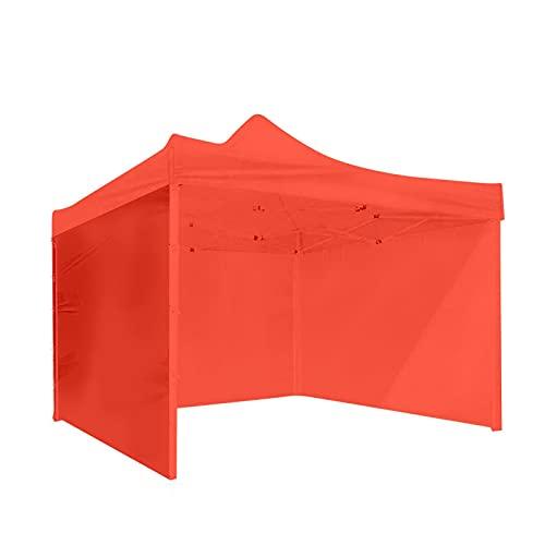 YNLRY 3 x 3 m, 3 paredes laterales, toldo para tienda de campaña, camping, picnic, portátil, cenador, parasol (color rojo)